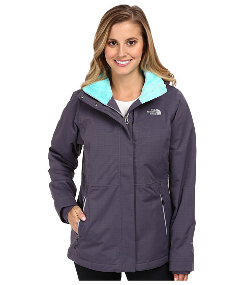 The North Face - Inlux Insulated Jacket (Greystone Blue) Women's Coat