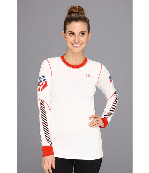 Helly Hansen - USSA HH One L/S (White) Girl's Long Sleeve Pullover