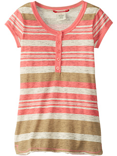 SALE! $14.99 - Save $11 on UNIONBAY Kids Province Stripe Henley (Big Kids) (Flamingo Pink) Apparel - 42.35% OFF $26.00