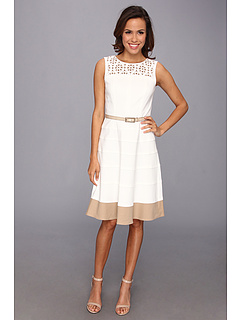 SALE! $49.99 - Save $79 on Anne Klein Lasercut Yoke Sailcloth Swing Dress (Camellia) Apparel - 61.25% OFF $129.00