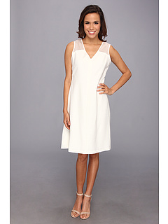 SALE! $44.99 - Save $94 on Anne Klein Embroidered Island Stretch Dress (Camellia) Apparel - 67.63% OFF $139.00