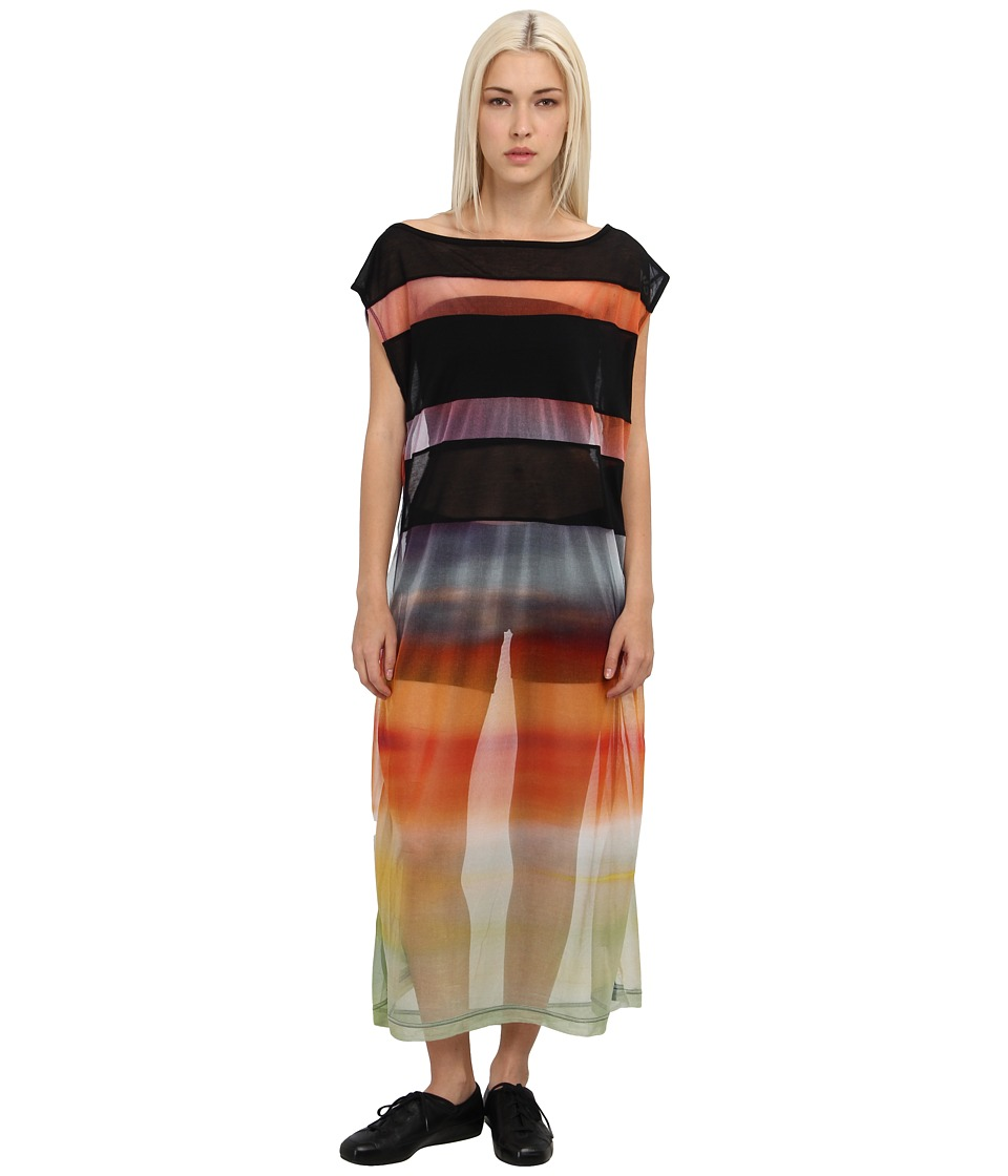 adidas Y-3 by Yohji Yamamoto - Gauze Dress (Sunset/Black) Women's Dress