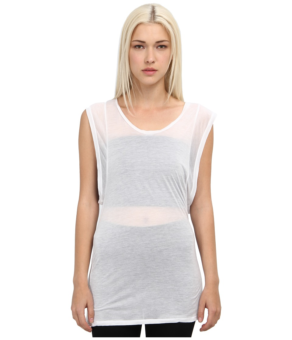 adidas Y-3 by Yohji Yamamoto - Sheer Tank (N.White) Women's Sleeveless