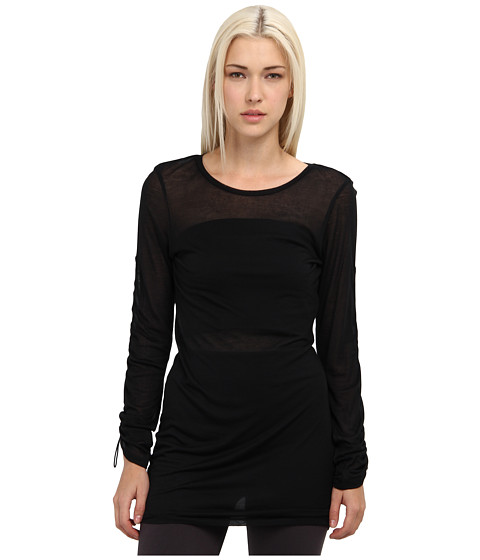 adidas Y-3 by Yohji Yamamoto - Sheer Long Sleeve Top (Black) Women's Long Sleeve Pullover