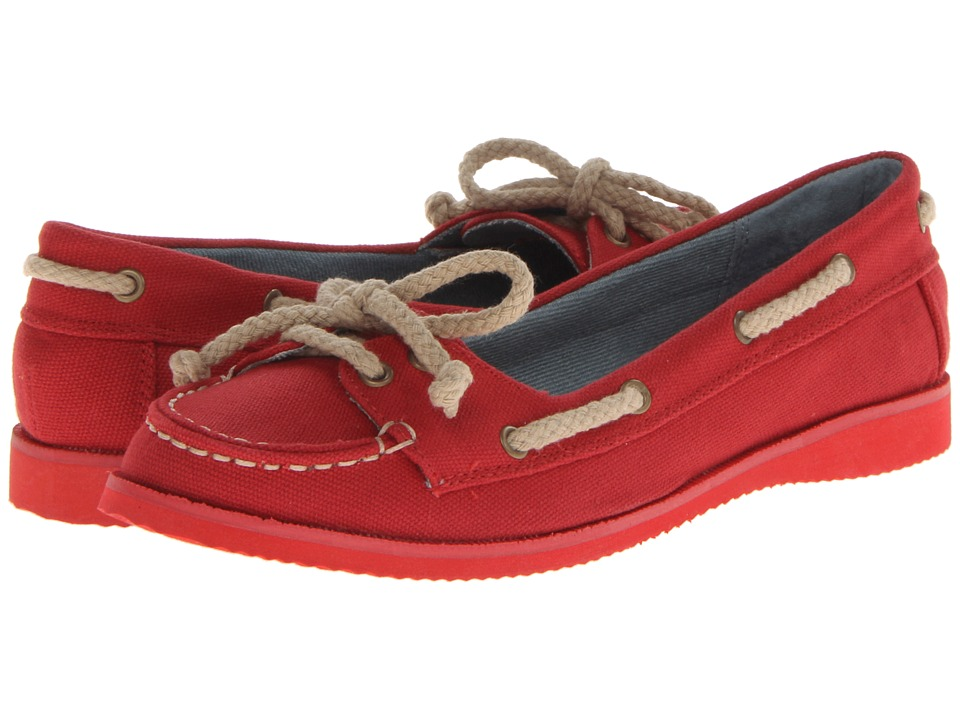 MIA - Low Tide (Red Canvas) Women's Slip on Shoes