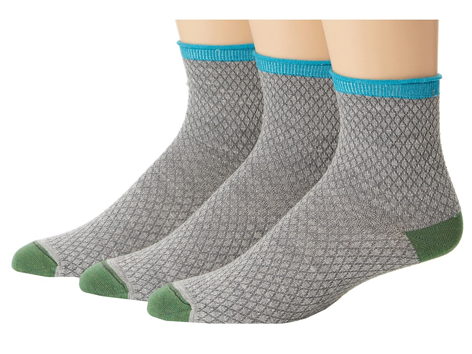 Goodhew - Pebble Stitch 3-Pack (Light Grey) Women's Crew Cut Socks Shoes