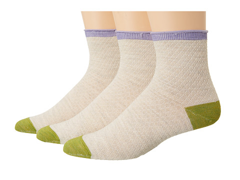 Goodhew - Pebble Stitch 3-Pack (Barley) Women's Crew Cut Socks Shoes