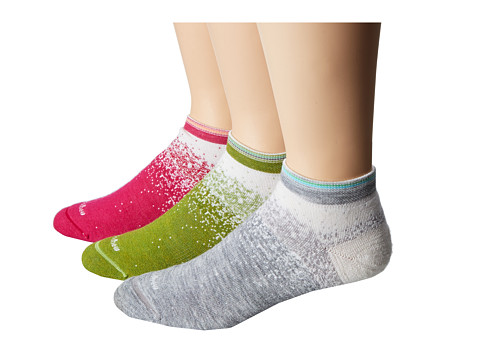 Goodhew - The Fade 3-Pack (Azalea/Green Chili/Light Grey) Women's Crew Cut Socks Shoes
