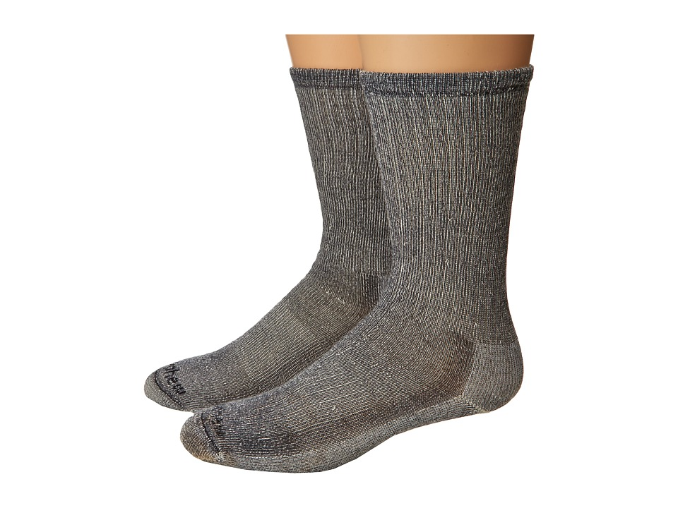 Goodhew - Hiker Medium Crew 2-Pair Pack (Grey) Men's Crew Cut Socks Shoes