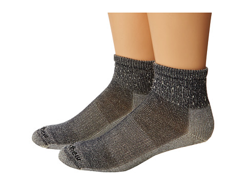 Goodhew - Light Hiker Quarter 2-Pack (Grey) Men's Crew Cut Socks Shoes