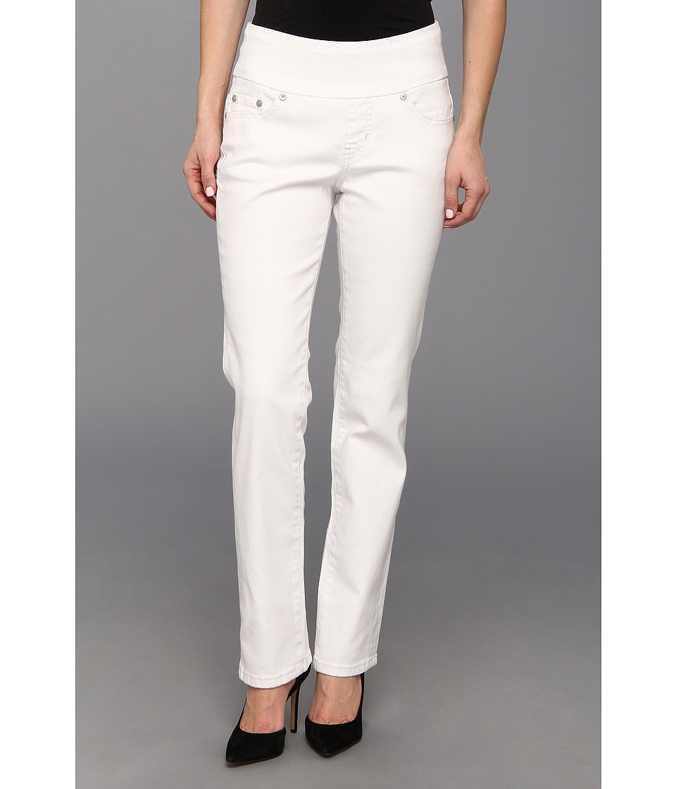 Jag Jeans Petite - Petite Peri Pull-On Straight Jean in White (White) Women's Jeans
