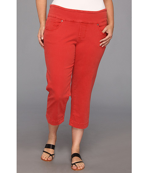 Jag Jeans Plus Size - Plus Size Felicia Pull-On Crop (Rouge Red) Women