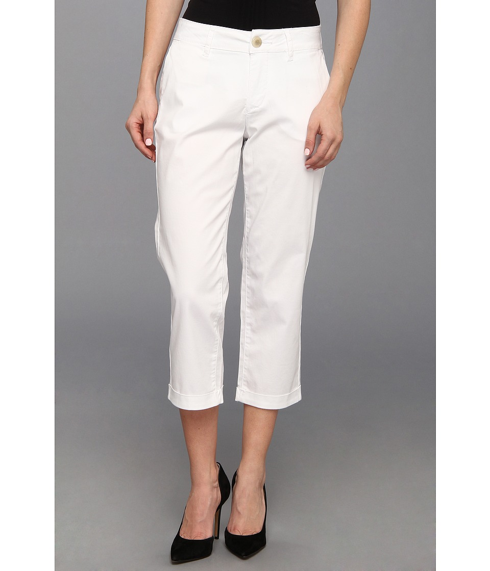 Jag Jeans Petite - Petite Cora Slim Crop in White (White) Women