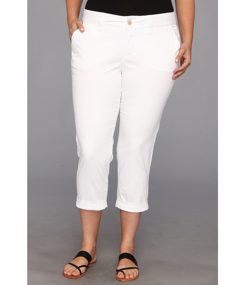 Jag Jeans Plus Size - Plus Size Cora Crop (White) Women
