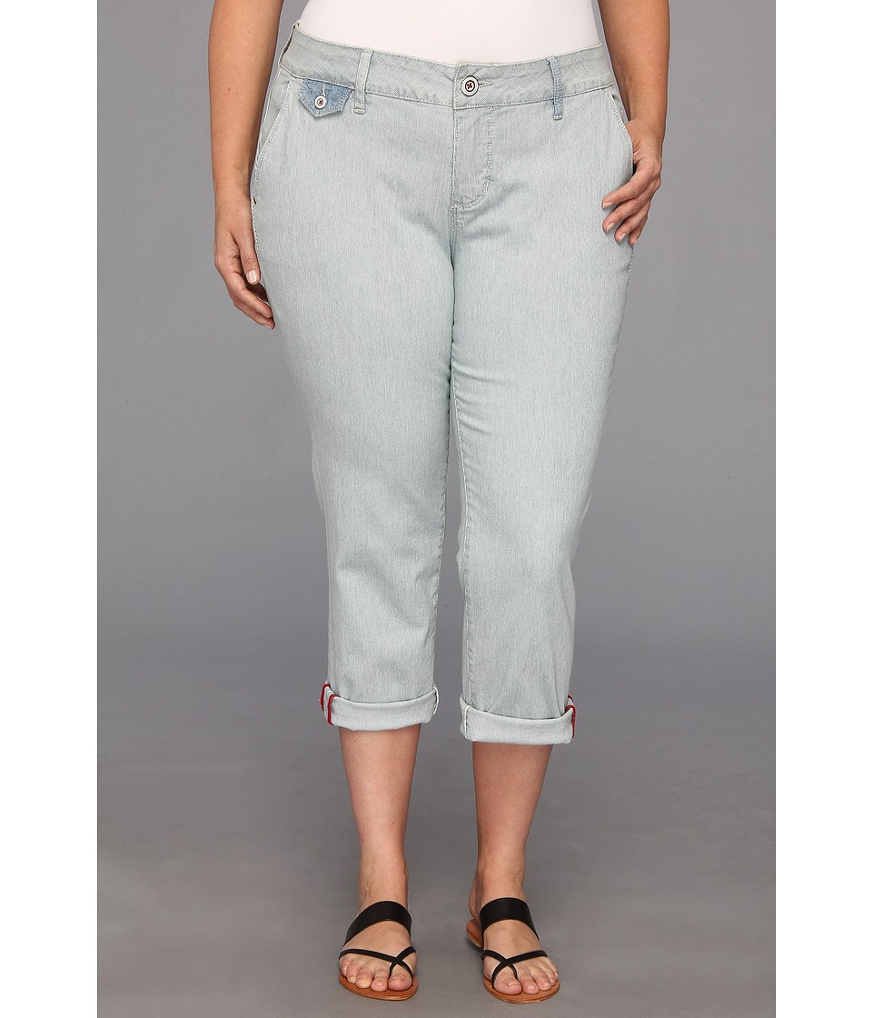 Jag Jeans Plus Size - Plus Size Jude Crop in Faded Indigo (Faded Indigo) Women