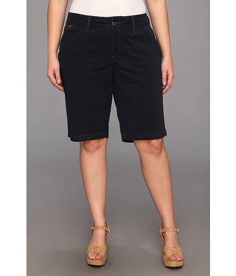 Jag Jeans Plus Size - Plus Size Lulu Classic Bermuda Fine Line Twill (Nautical Navy) Women's Shorts