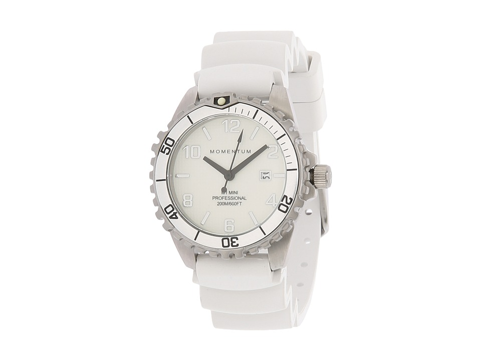 Momentum by St. Moritz - M1 Mini (White/Silver Rubber) Sport Watches