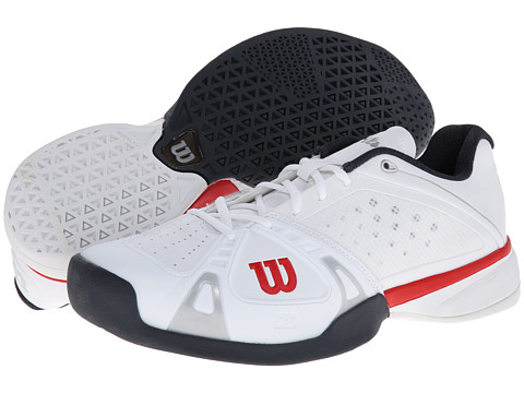 Wilson - Rush Pro (White/Red/Coal) Men's Tennis Shoes