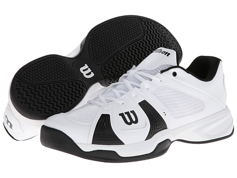 Wilson - Rush Open (White/White/Black) Men's Tennis Shoes