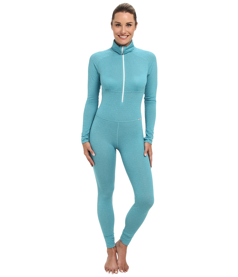 Patagonia - Capilene(r) 4 Expedition Weight One Piece Suit (Tobago Blue - Arctic Mint X-Dye) Women's Race Suits One Piece