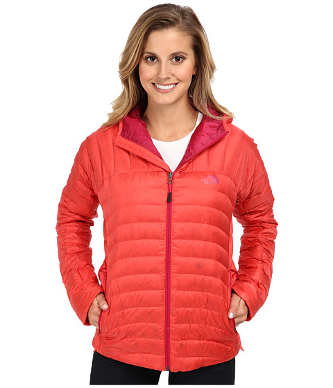 The North Face - Tonnerro Hooded Jacket (Rambutan Pink) Women