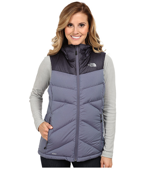 The North Face - Kailash Hooded Vest (Greystone Blue/Greystone Blue) Women's Vest