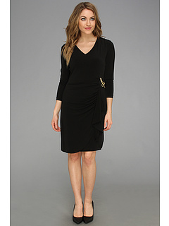 SALE! $59.99 - Save $74 on Tahari by ASL Arlene A Novelty Knit Dress (Black) Apparel - 55.23% OFF $134.00