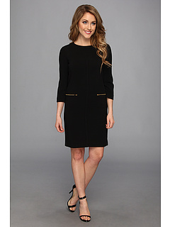SALE! $49.99 - Save $78 on Tahari by ASL Lily P Double Woven Dress (Black) Apparel - 60.95% OFF $128.00
