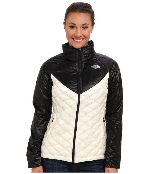 The North Face - ThermoBall Remix Jacket (Gardenia White/TNF Black) Women's Coat