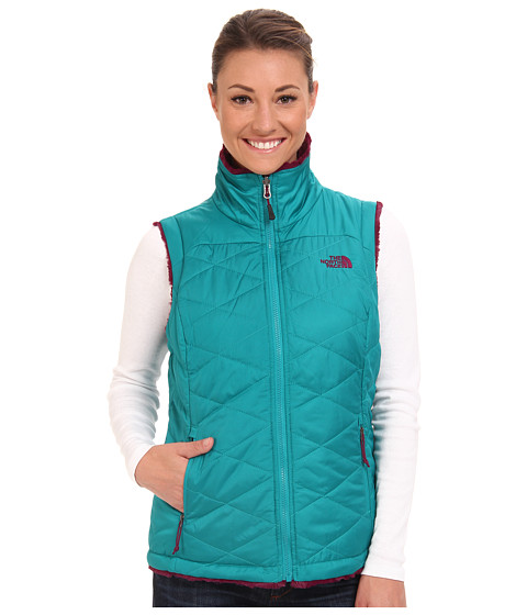 The North Face - Mossbud Swirl Insulated Vest (Fanfare Green/Parlour Purple) Women