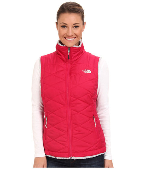 The North Face - Mossbud Swirl Insulated Vest (Cerise Pink/High Rise Grey) Women's Vest