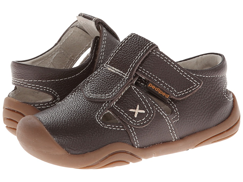 pediped - Martin Grip 'n' Go (Toddler) (Chocolate Brown) Boys Shoes