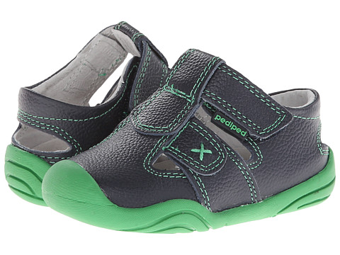 pediped - Martin Grip 'n' Go (Toddler) (Navy Green) Boys Shoes