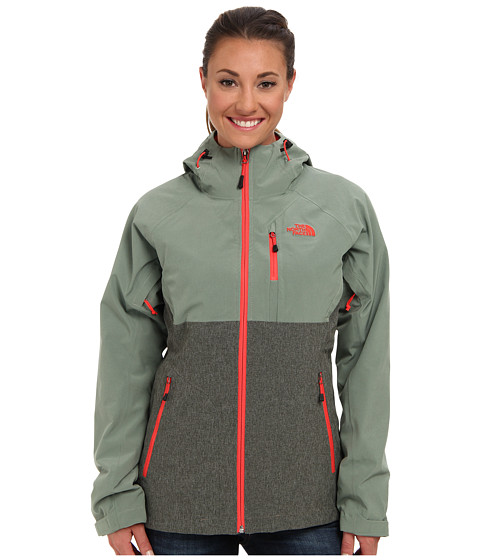 The North Face - ThermoBall Triclimate Jacket (New Taupe Green Heather/Sea Spray Green) Women