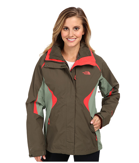 The North Face - Boundary Triclimate Jacket (New Taupe Green/Sea Spray Green/Rambutan Pink) Women