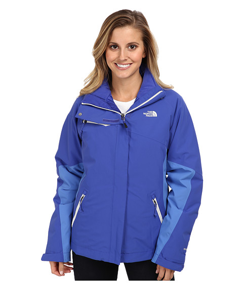 The North Face - Cinnabar Triclimate Jacket (Tech Blue/Tech Blue/Coastline Blue) Women's Coat