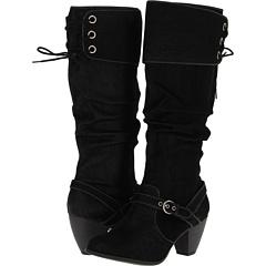 Jellypop Bibiana (Black Nubuck Smooth) Footwear