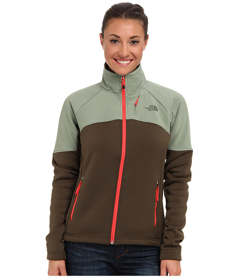 The North Face - Momentum 300 Pro Jacket (New Taupe Green/Sea Spray Green) Women's Coat