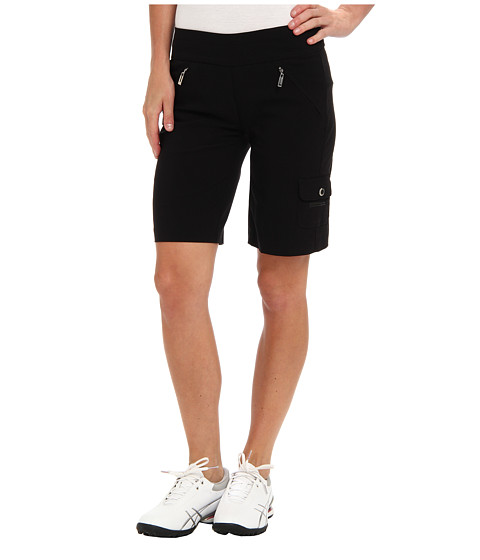 Jamie Sadock - Skinnylicious Mesh Control Top Panel 19 in. Short (Black) Women