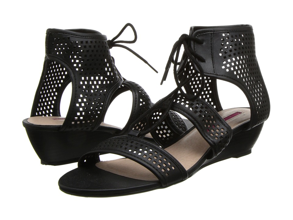 C Label - Coco-11 (Black) Women's Wedge Shoes