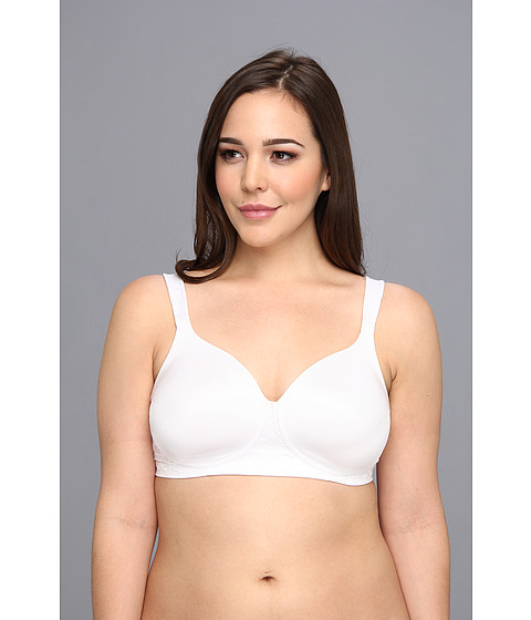 Vanity Fair - Beautiful Benefits Full Figure Back Smoother Wirefree Bra (Star White) Women