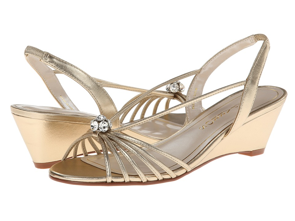 Caparros - Margarita (Gold Metallic) Women's Wedge Shoes