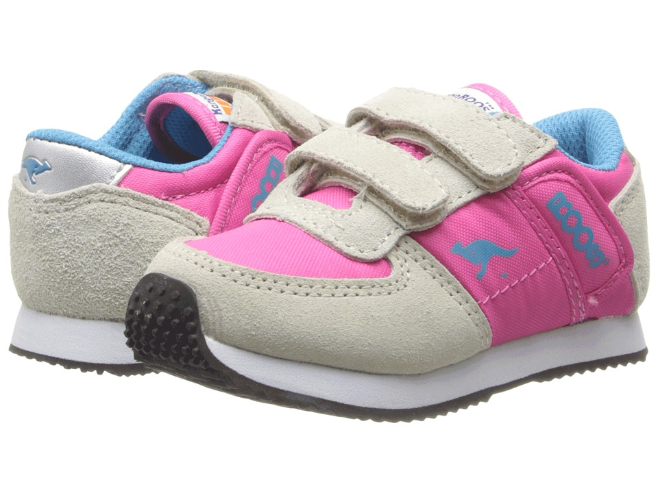KangaROOS Kids - Combat (Toddler) (Warm Grey/Hot Pink) Kids Shoes
