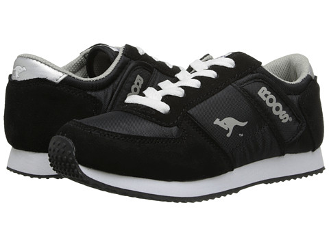 KangaROOS Kids - Combat (Little Kid) (Black/White/Silver) Kids Shoes