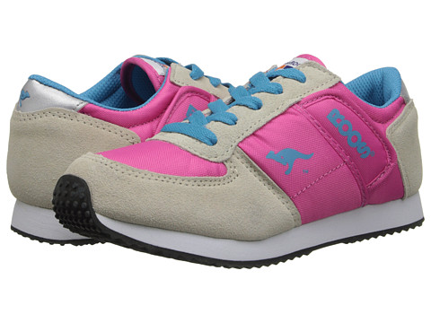 KangaROOS Kids - Combat (Little Kid) (Warm Grey/Hot Pink) Kids Shoes