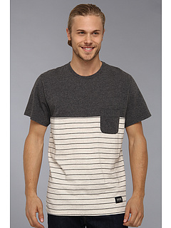 SALE! $16.99 - Save $28 on Lifetime Collective Sadie Stripe Tee (Charcoal Combo) Apparel - 62.24% OFF $45.00