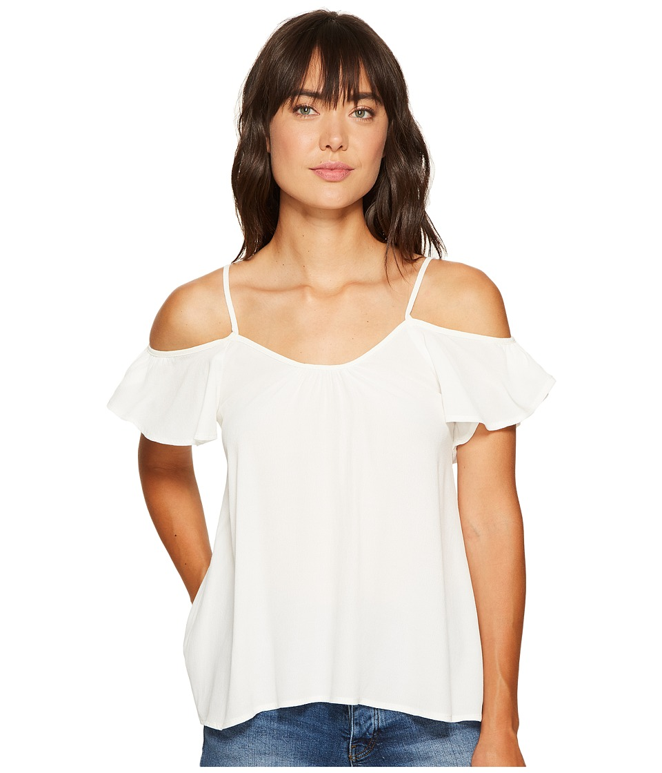 Lucy Love Hollie Top (White) Women's Blouse