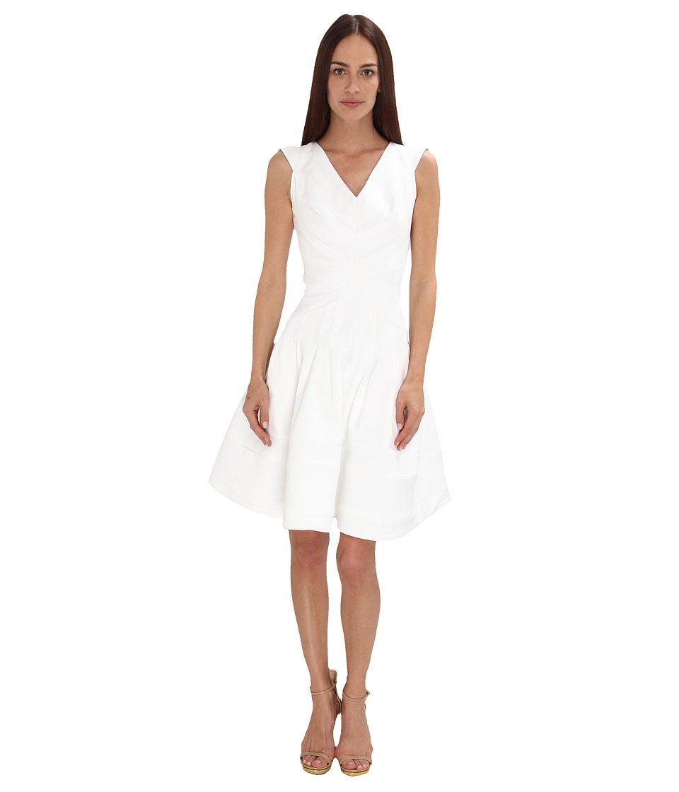 Zac Posen - ZP-09-5018-42 (Optic White) Women's Dress