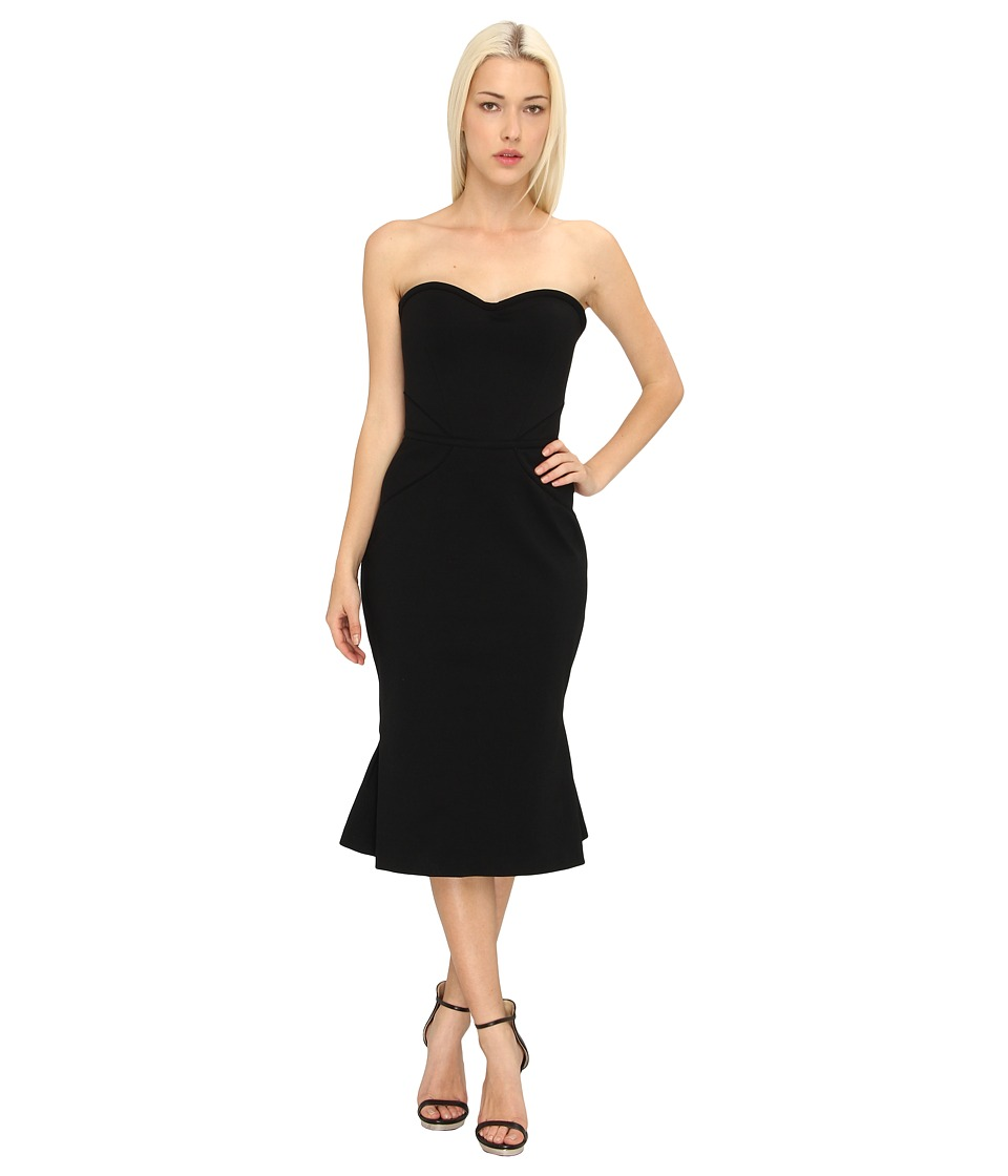 Zac Posen - Fitted Flounce Dress (Black) Women's Evening