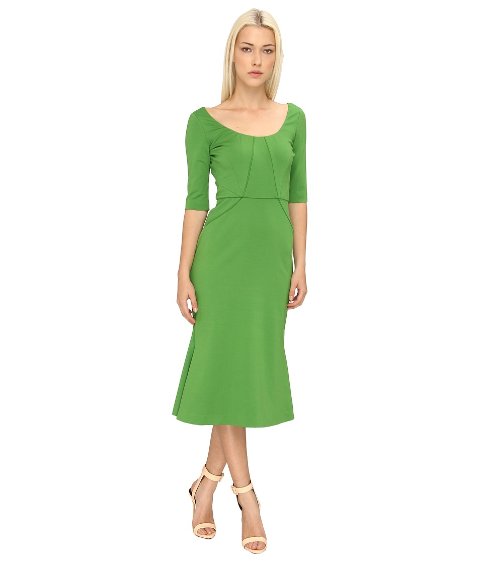 Zac Posen - ZP-40-5010-42 (Grass Green) Women's Dress
